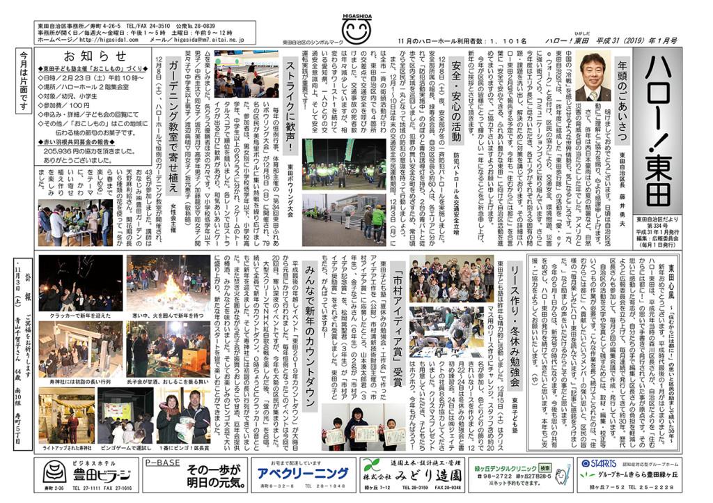 ハロー東田 2019.01号